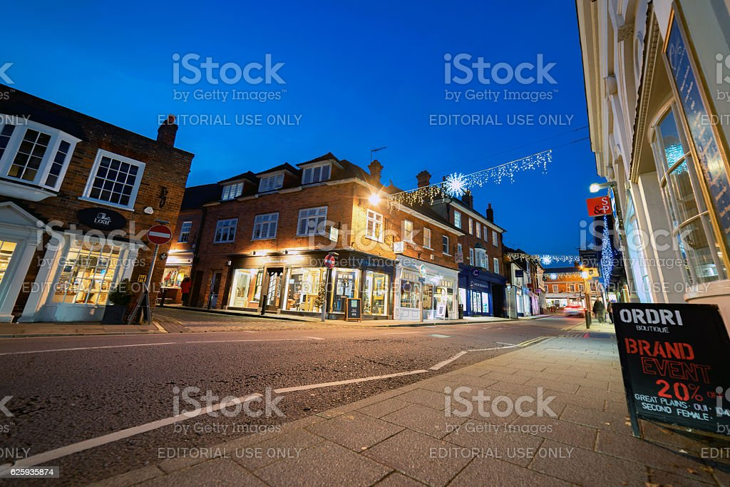 Downing Street in Farnham, Surrey stock photo
