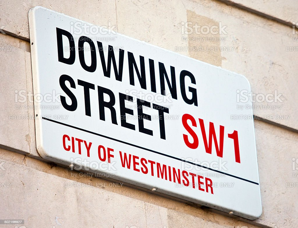 Downing Street in London stock photo