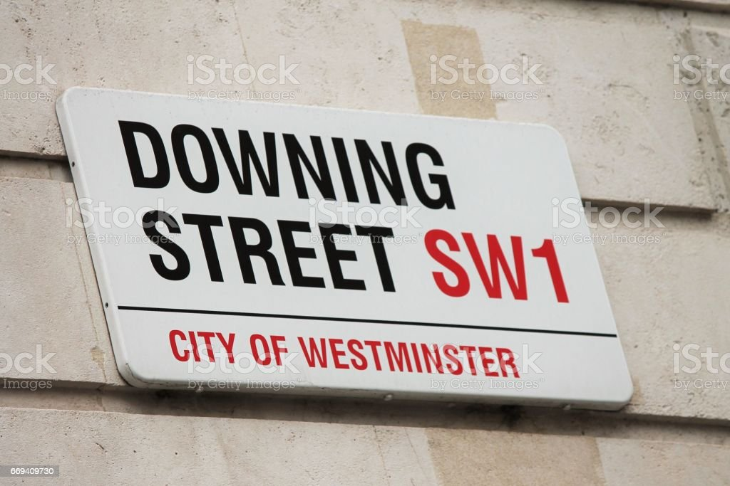 LONDON, UK - MARCH 9TH 2014: Downing Street in Westminster, London onthe 9th March 2014. stock photo