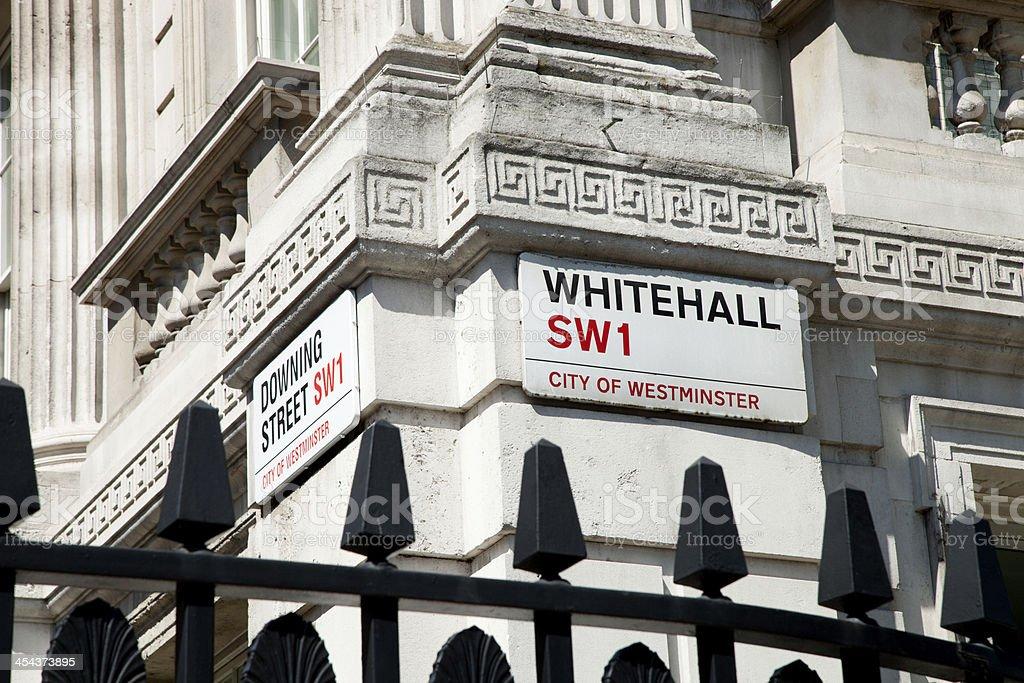 Downing Street, London stock photo