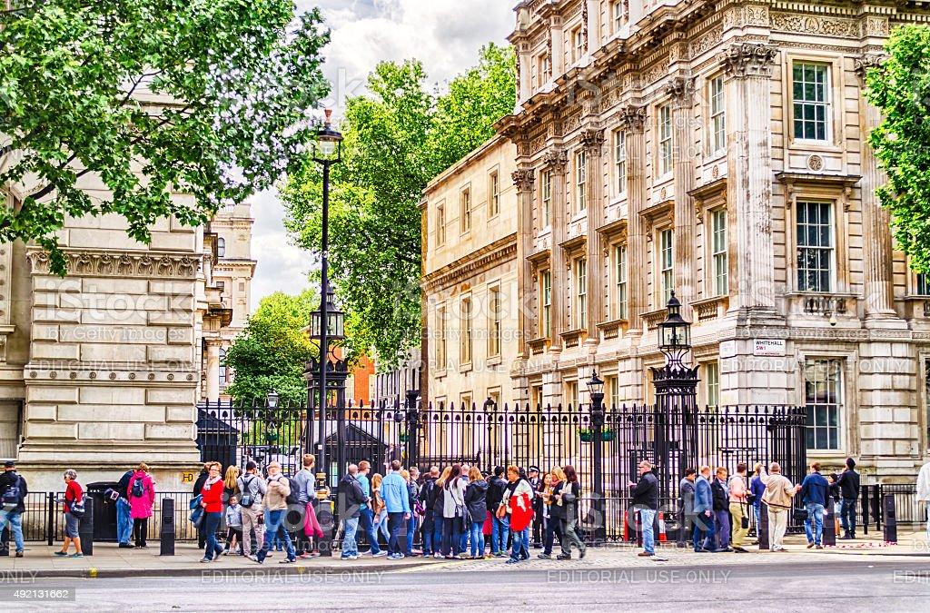 Downing Street, London, UK stock photo