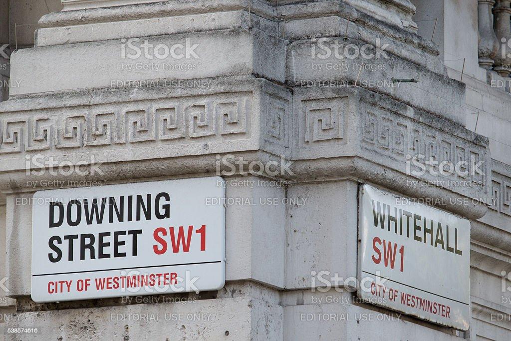 Downing Street, London, United Kingdom stock photo