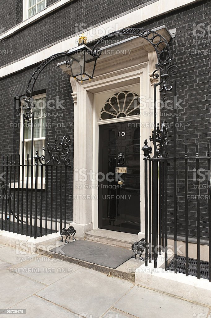 Downing Street Number 10 stock photo