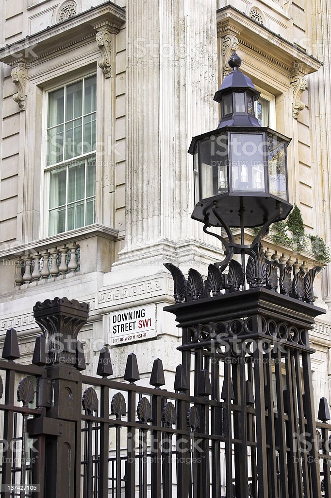 Downing Street, Westminster, London royalty-free stock photo