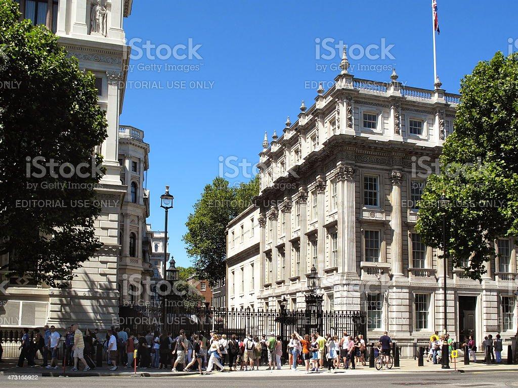Downing Street Whitehall London stock photo