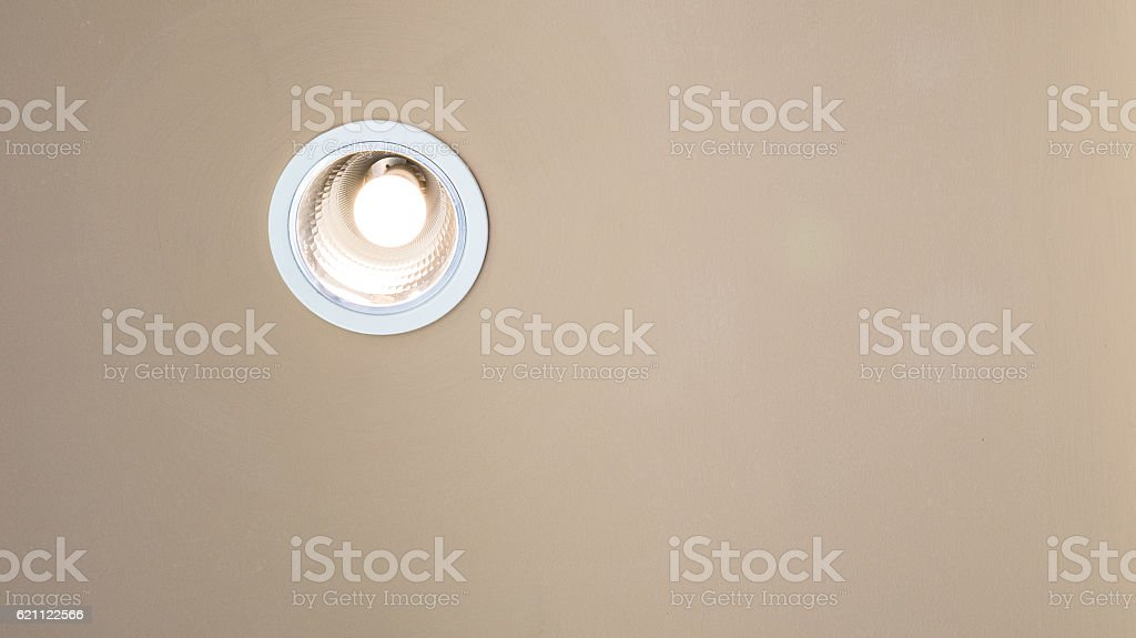 Downlight on the wall. stock photo