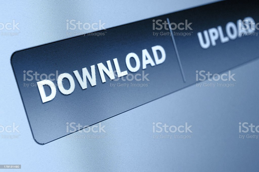 Download Button royalty-free stock photo