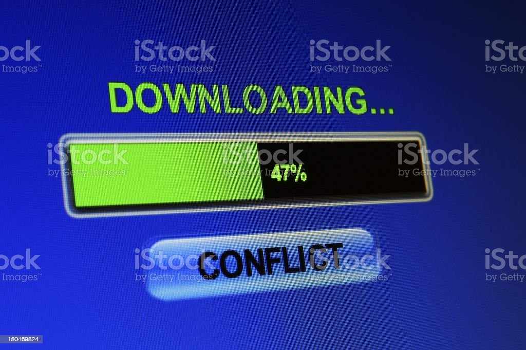 Download conflict royalty-free stock photo