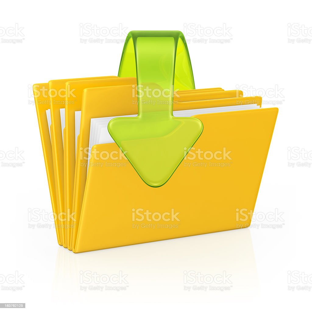 download folders royalty-free stock photo