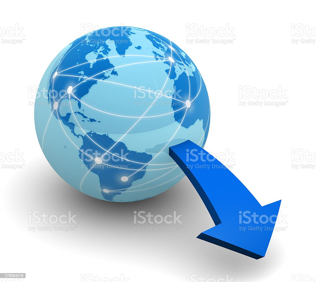Download from internet royalty-free stock photo