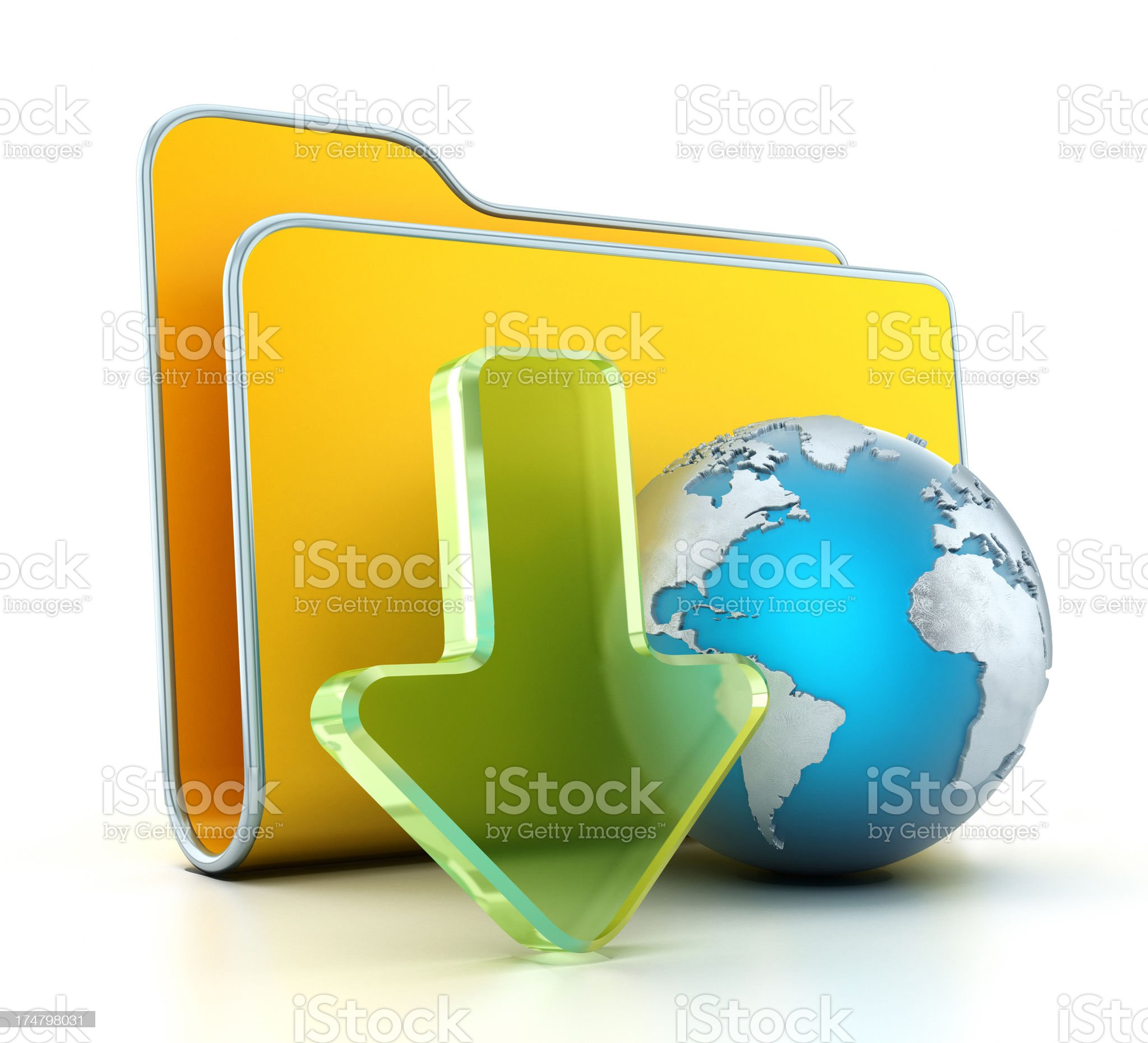 Download icon royalty-free stock photo