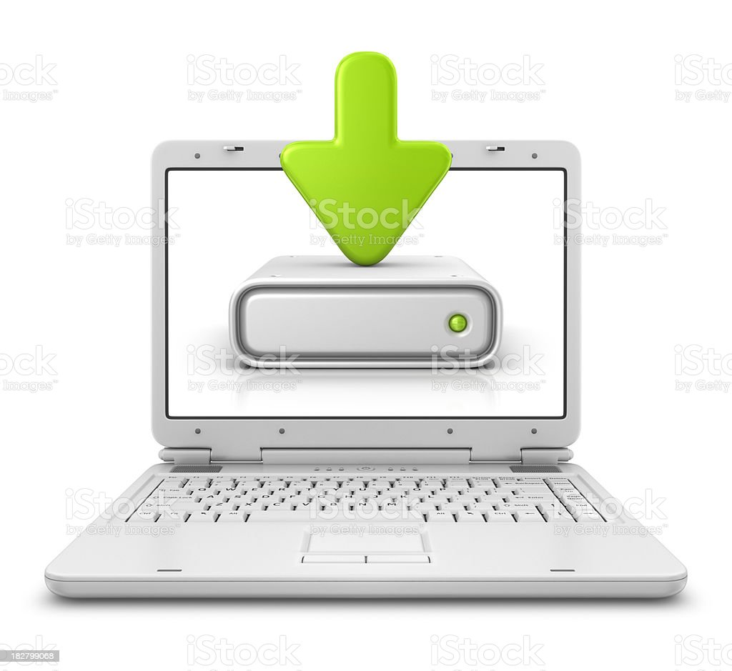 download in laptop royalty-free stock photo