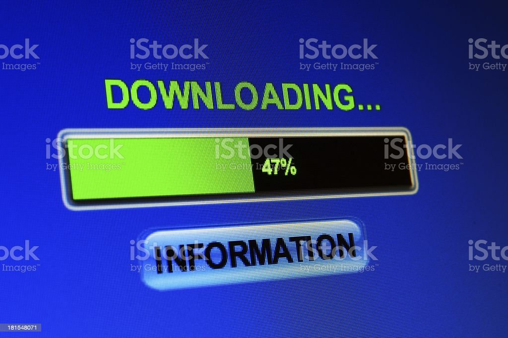Download information royalty-free stock photo