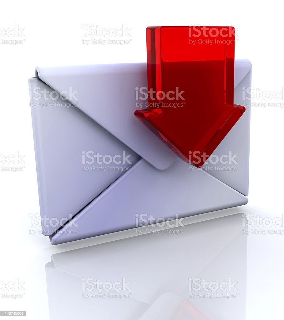 Download mail icon royalty-free stock photo
