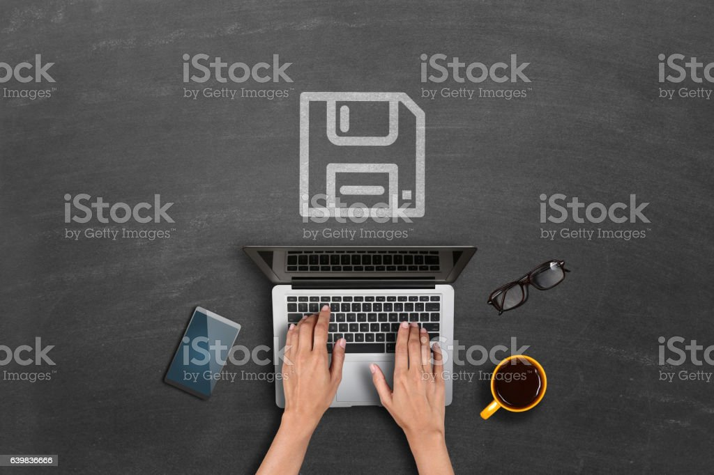 Downloading concept stock photo