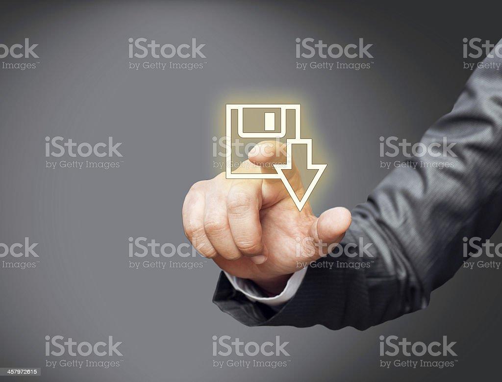 Downloading file stock photo
