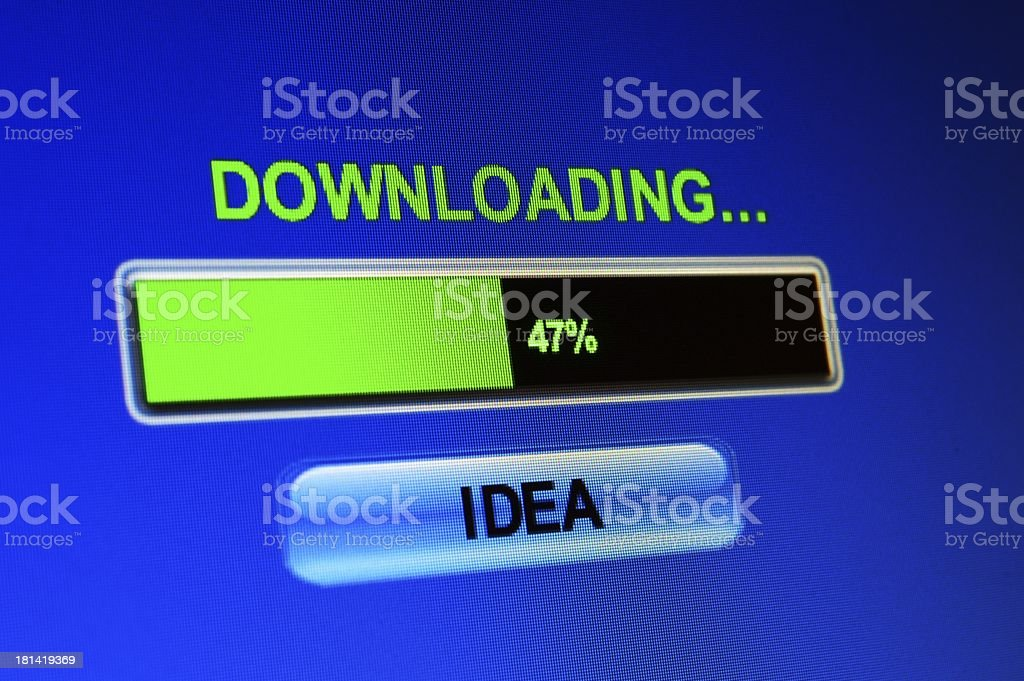Downloading idea royalty-free stock photo
