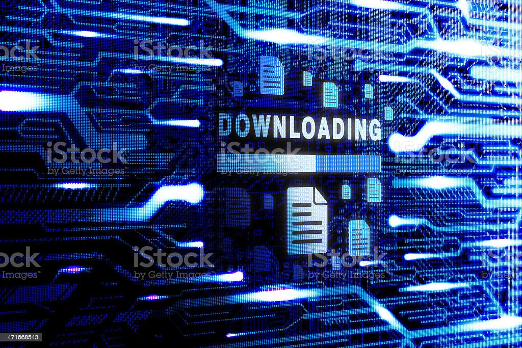 Downloading technology stock photo