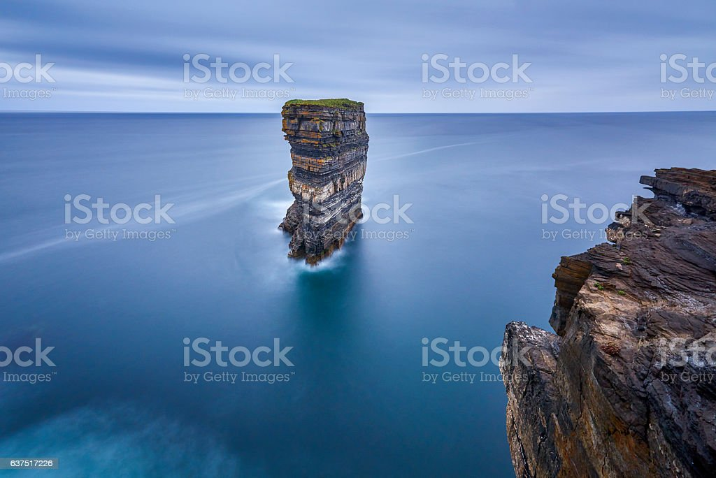 Downpatrick Head is an area of unrivalled coastal beauty stock photo