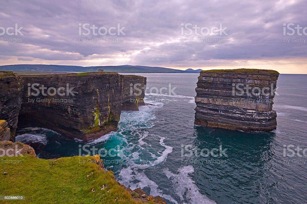 Downpatrick Head, North Mayo. stock photo