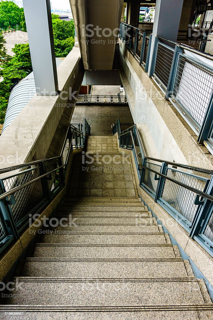 Downstairs at metro station in Bankok, Thailand, 28 October 2015 stock photo