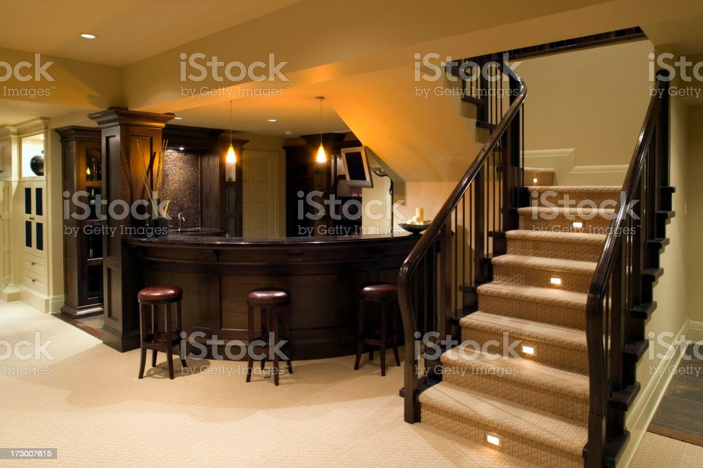 downstairs modern house royalty-free stock photo