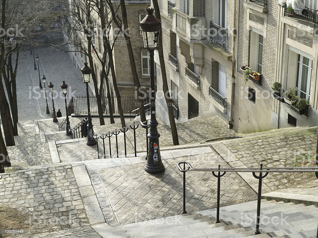 Downstairs of Montmartre in Paris, France stock photo