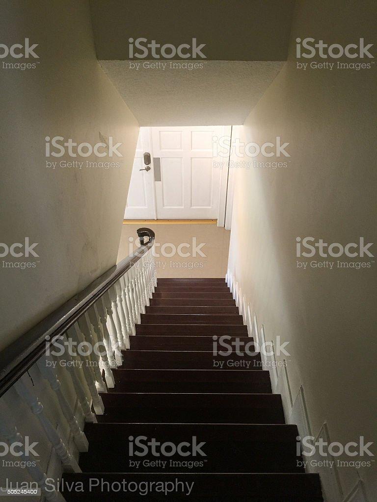 Downstairs stock photo