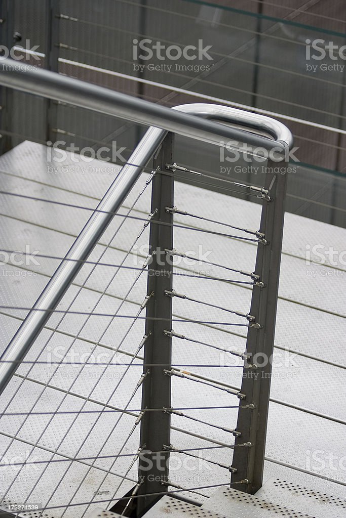 Downstairs with banisters royalty-free stock photo