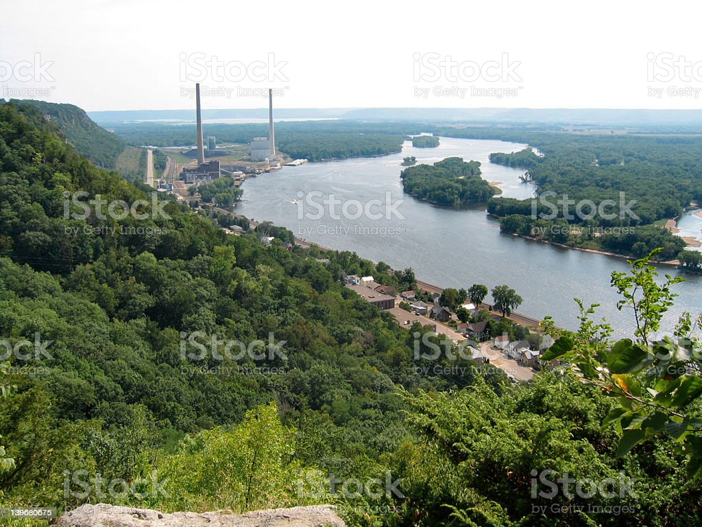 Downstream royalty-free stock photo