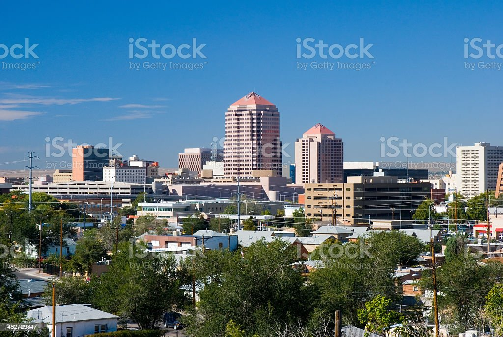 Downtown Albuquerque royalty-free stock photo