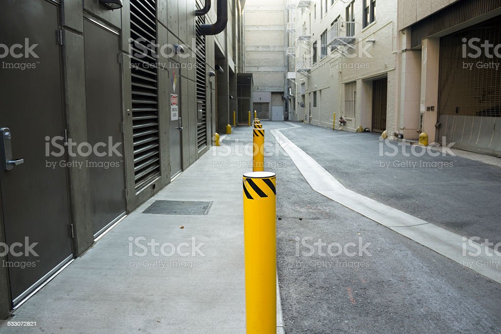 Downtown Alley stock photo