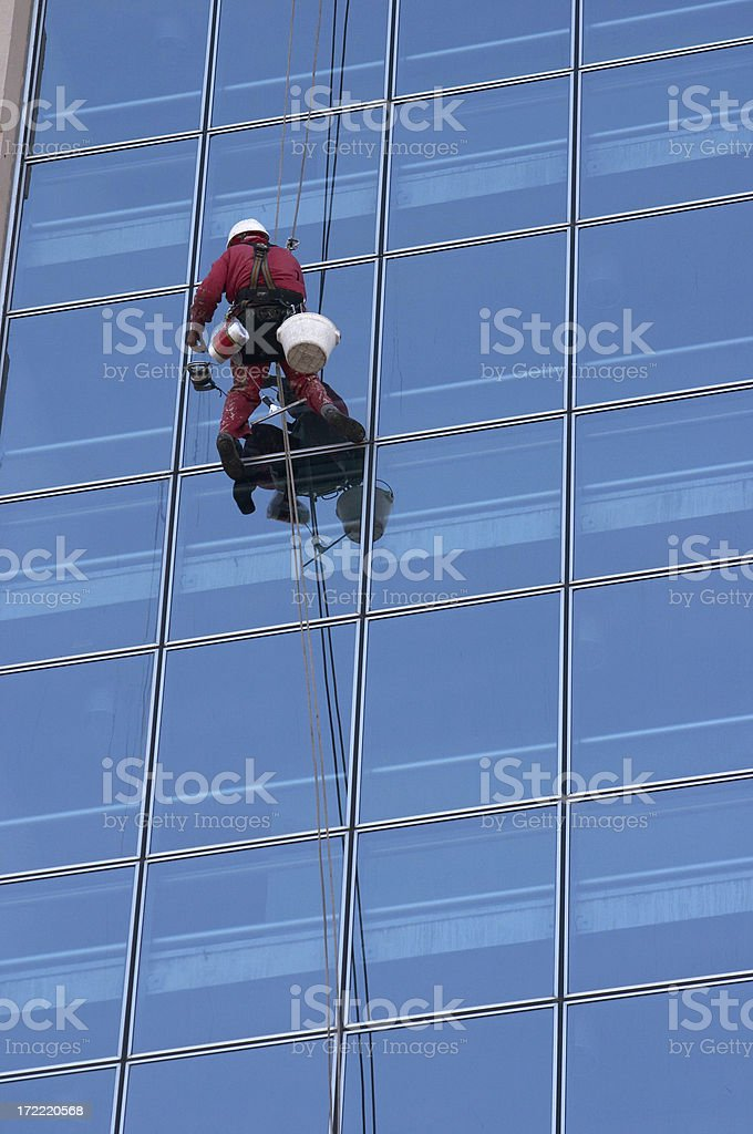 downtown alpinist stock photo