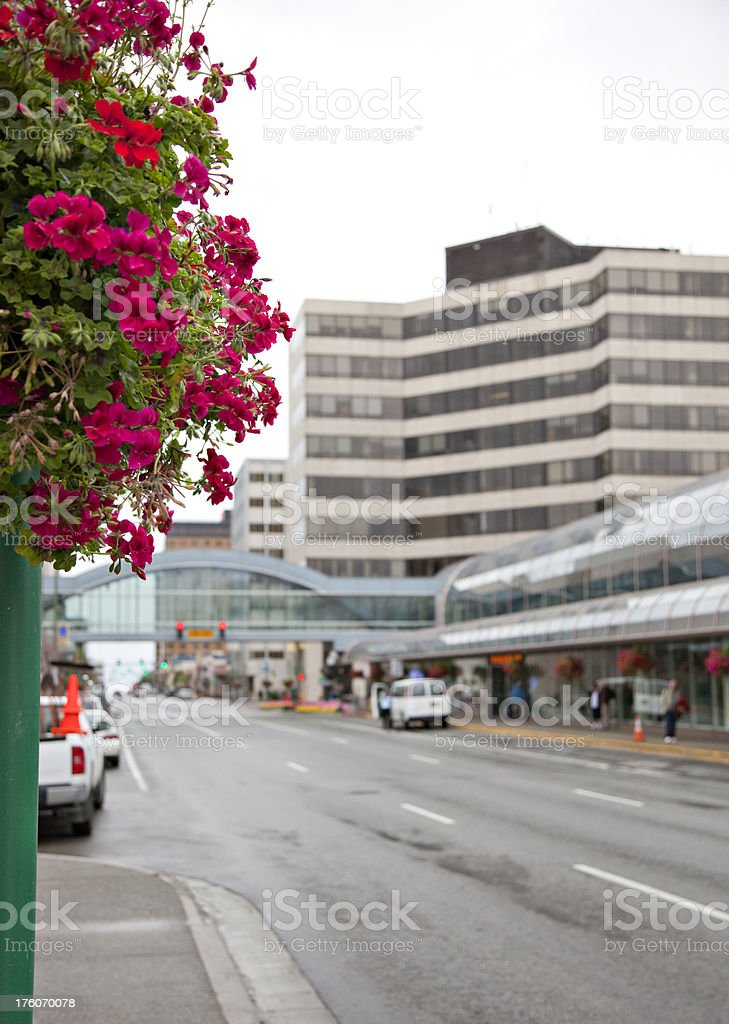 Downtown Anchorage stock photo