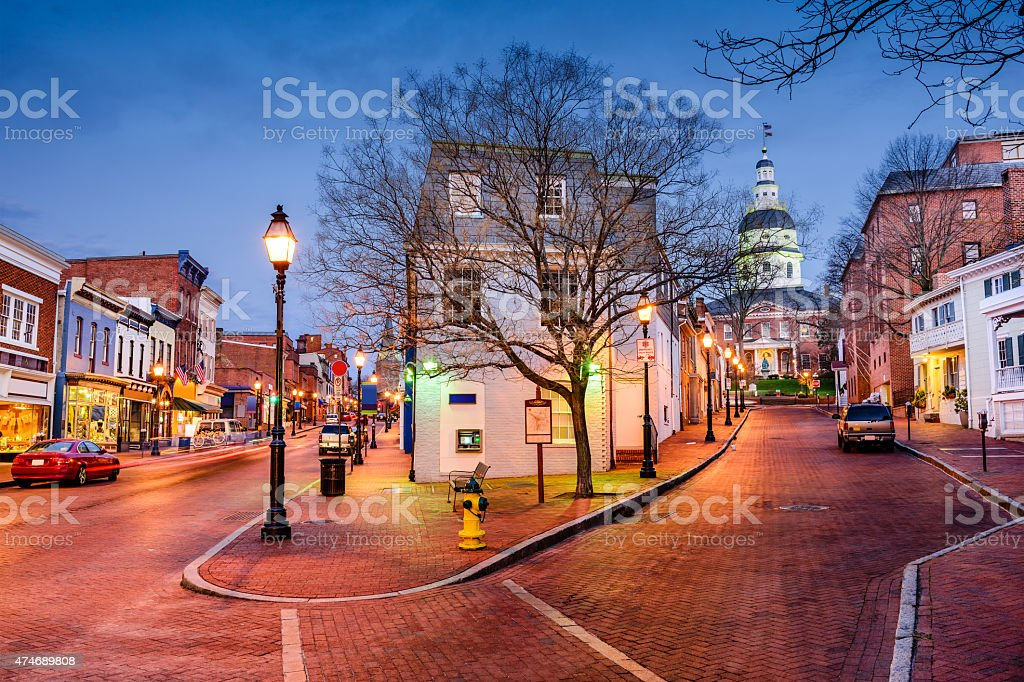 Downtown Annapolis, Marlyand stock photo