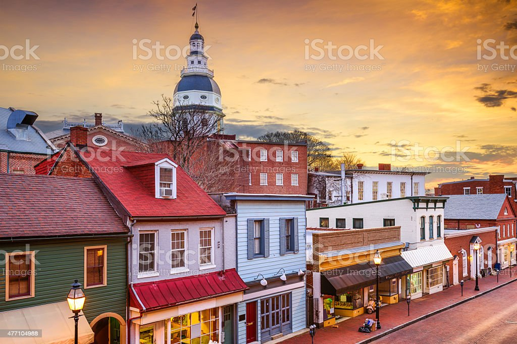 Downtown Annapolis Maryland stock photo