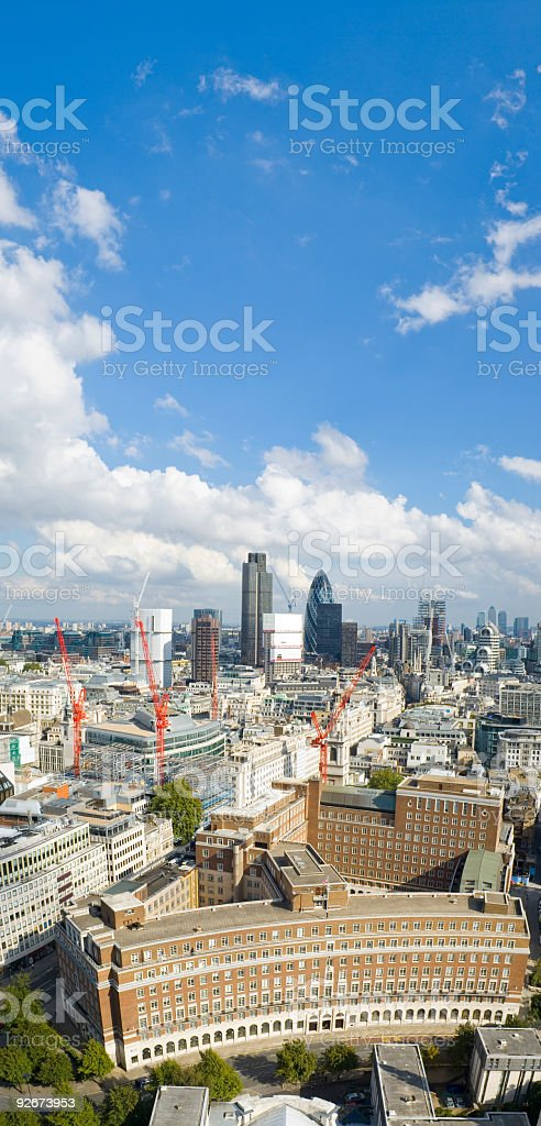 Downtown architecture, blue skies royalty-free stock photo