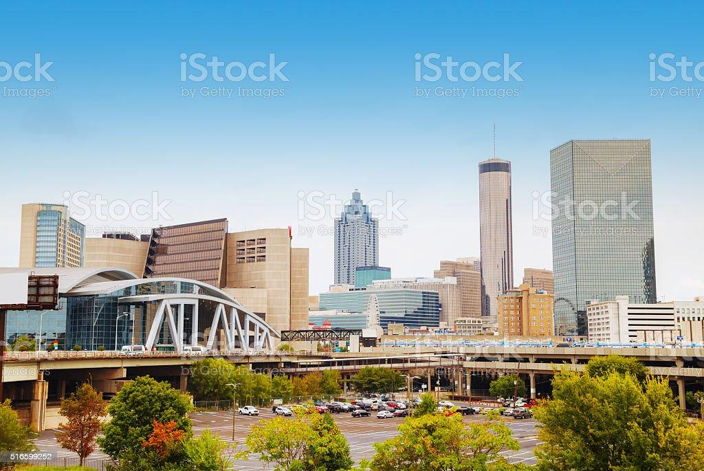 Downtown Atlanta, Georgia stock photo