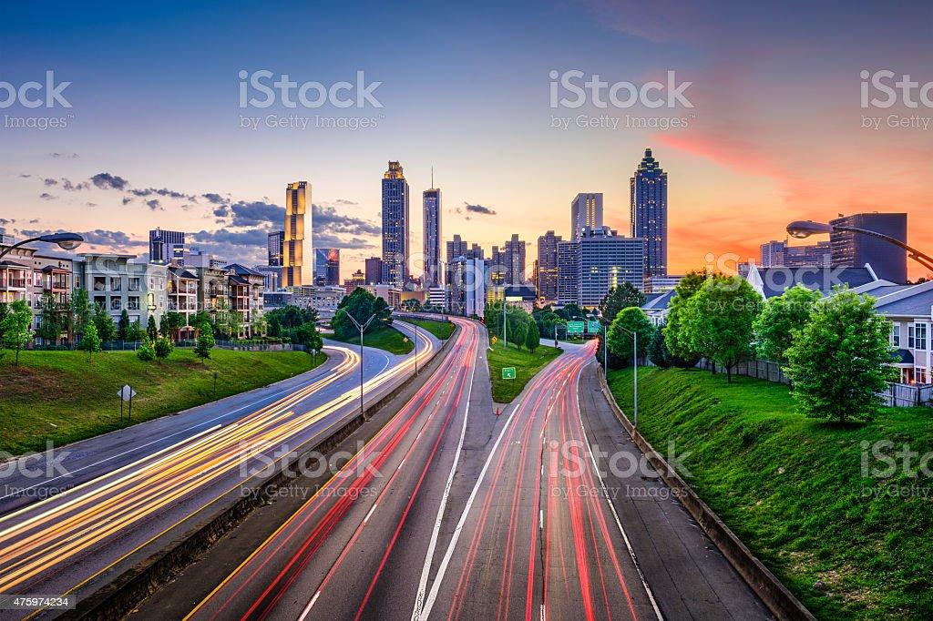 Downtown Atlanta Georgia Skyline stock photo