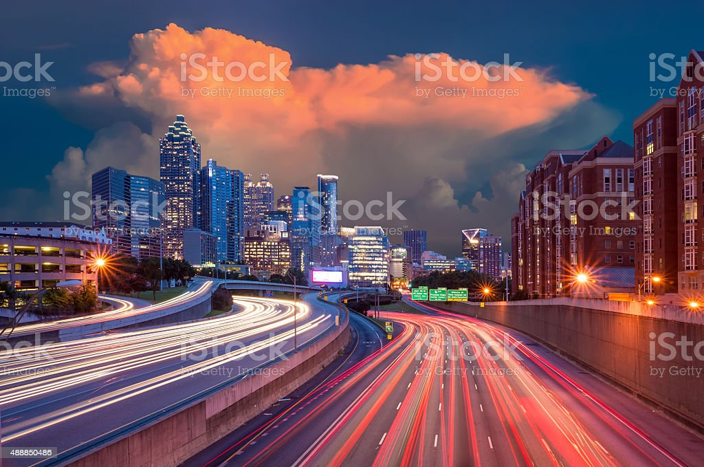 Downtown Atlanta, Georgia, USA skyline. stock photo