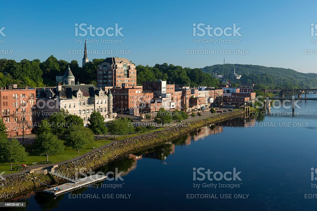 Downtown Augusta stock photo