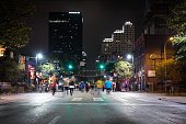 Downtown Austin at Night on Sixth Avenue, Texas, USA