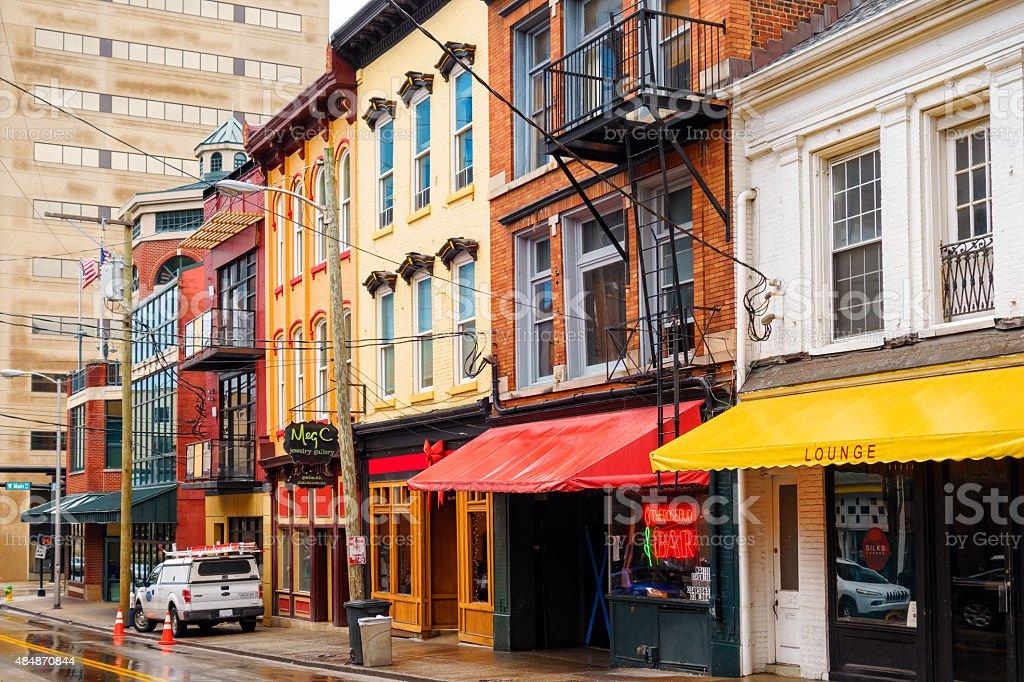 Downtown Bars and Businesses Lexington Kentucky USA stock photo