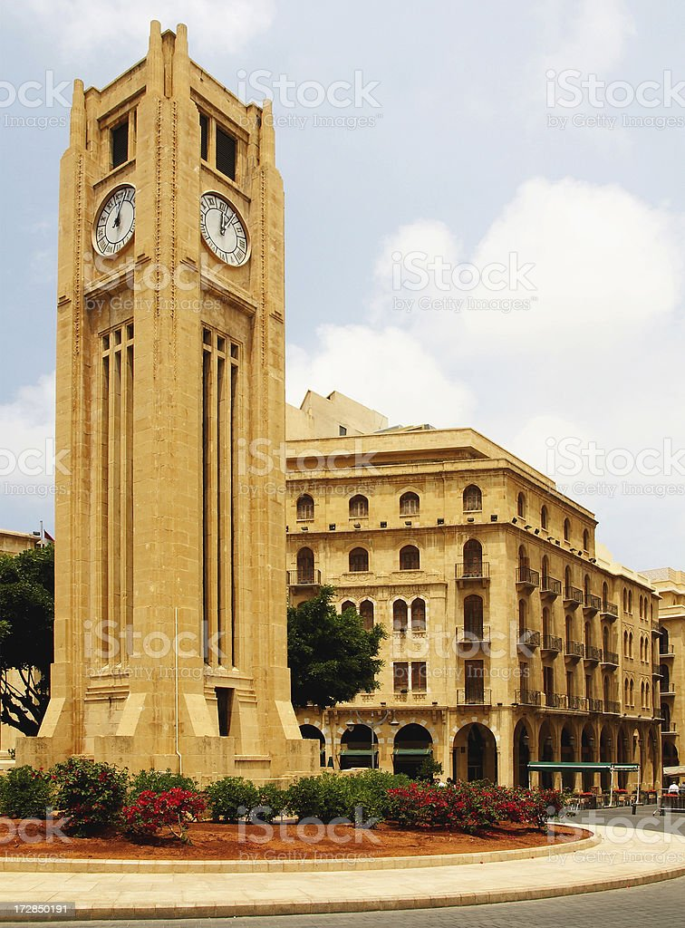 Downtown Beirut stock photo