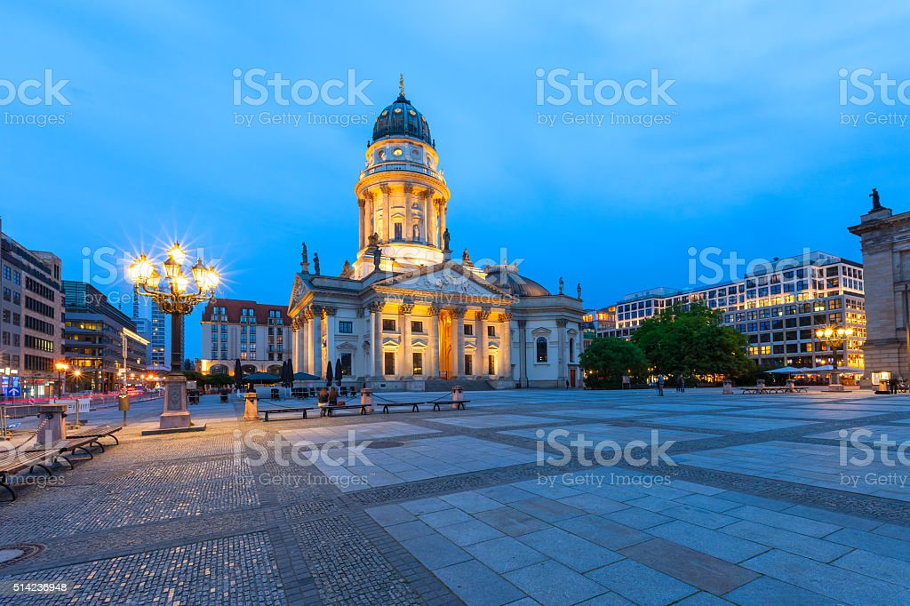 Downtown Berlin Germany with the German Cathedral stock photo