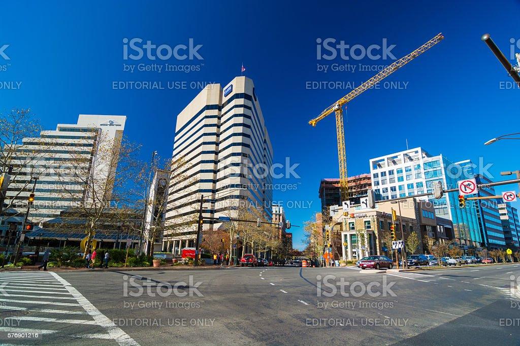 Downtown Bethesda Scene stock photo