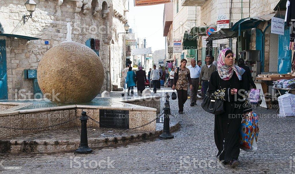 Downtown Bethlehem stock photo
