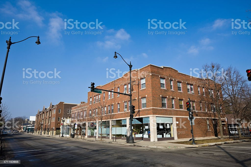 Downtown Beverly Chicago stock photo