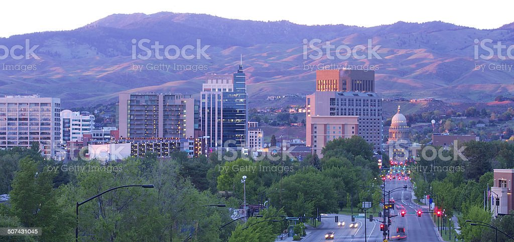 Downtown Boise, Idaho stock photo