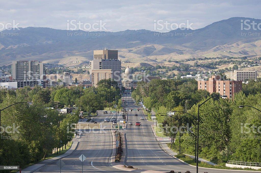 Downtown Boise, Idaho stock photo